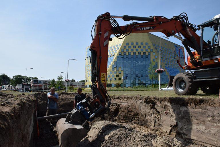 Archeologisch onderzoek in plan Slotgraven in Hardenberg Centrum.