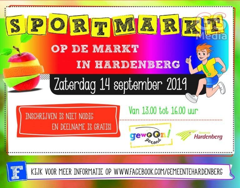 Kennismaken met zestien sporten op de Markt in Hardenberg