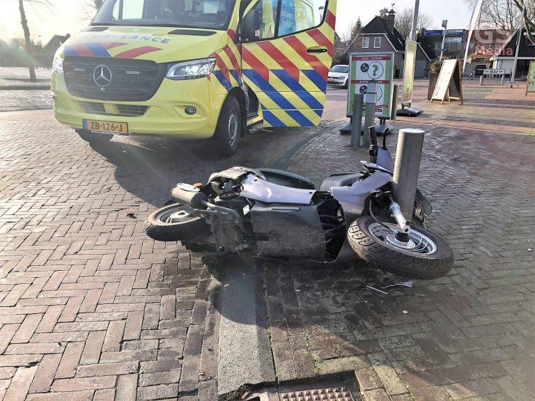 Scooterrijdster gewond